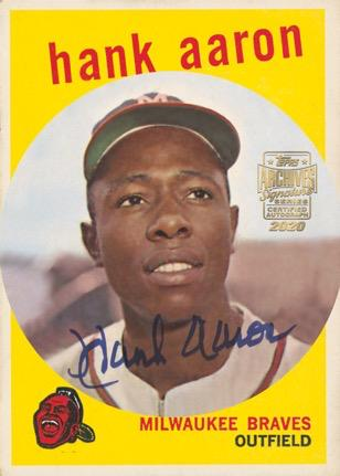 2020 Topps Archives Signature Series Retired Player Edition Baseball Cards Hank Aaron Autograph