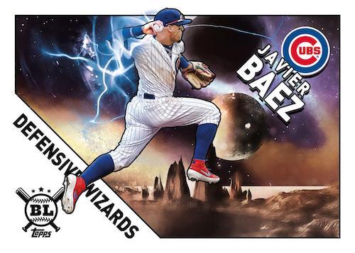 2020 Topps Big League Baseball Cards Defensive Wizards Javier Baez