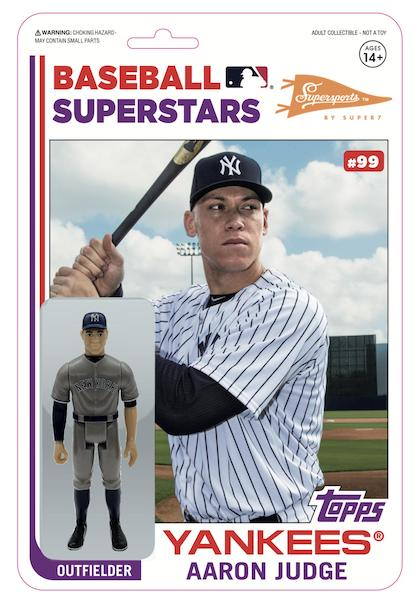 2020 Topps Big League Baseball Cards Exclusive Super7 MLB Action Figure Aaron Judge