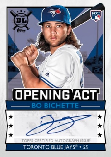 2020 Topps Big-League Baseball Cards Opening Act Autographs Bo Bichette RC