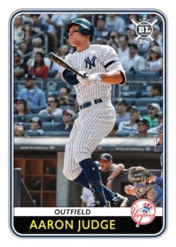 2020 Topps Big League Baseball Cards Veteran Base Card Aaron Judge