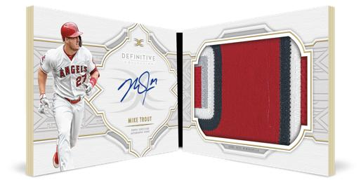 2020 Topps Definitive Collection Baseball Cards Autograph Patch Book Collection Card Mike Trout