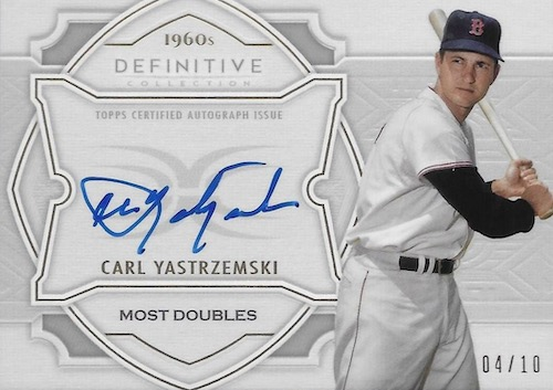 2020-Topps-Definitive-Collection-Baseball-Cards-Defining-the-Decade-Autograph-Collection-Ca2020 Topps Definitive Collection Baseball Cards Defining the Decade Autograph Collection Carl Yastrzemski