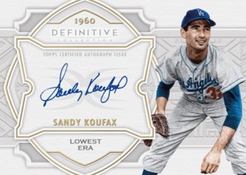 2020 Topps Definitive Collection Baseball Cards Defining the Decade Autograph Sandy Koufax