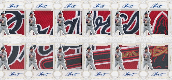 2020 Topps Definitive Collection Baseball Cards Definitive Autographed Ultra Patch Collection Chipper Jones new