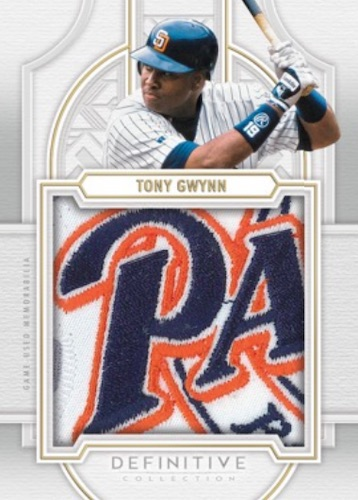 2020 Topps Definitive Collection Baseball Cards Definitive Patch Collection Tony Gwynn