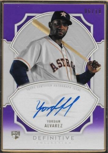 2020 Topps Definitive Collection Baseball Cards Framed Autograph Collection Yordan Alvarez RC new