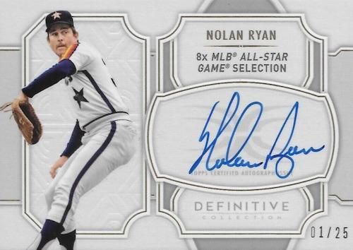2020 Topps Definitive Collection Baseball Cards Legendary Autograph Collection Nolan Ryan new