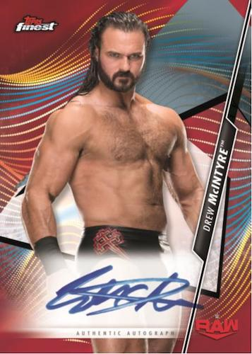 2020 Topps Finest WWE Wrestling Cards Finest Autograph Red Refractor Drew McIntyre