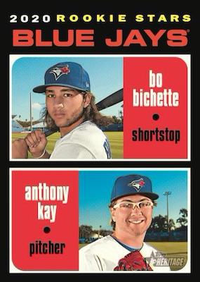 2020 Topps Heritage Baseball Cards Base Rookie Stars Bo Bichette Anthony Kay RC