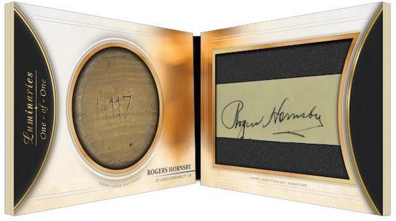 2020 Topps Luminaries Baseball Cards Cut Signature Bat Knob Book Roger Hornsby