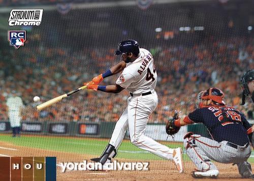 2020 Topps Stadium Club Chrome Baseball Cards Base Yordan Alvarez RC