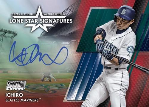 2020 Topps Stadium Club Chrome Baseball Cards Lone Star Signatures Ichiro