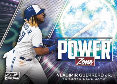 2020 Topps Stadium Club Chrome Baseball Cards Power Zone Vladimir Guerrero Jr.