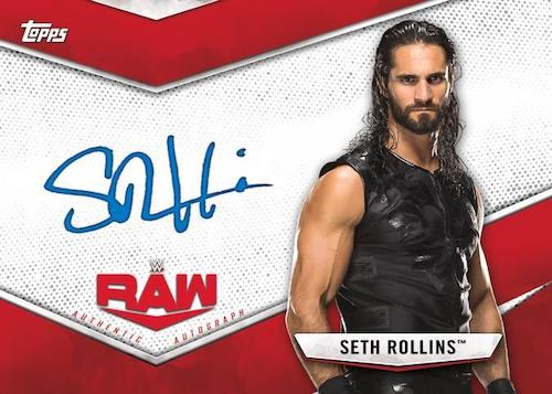 2020 Topps WWE-Raw vs. Smackdown Wrestling Cards Raw Base Autograph Red Seth Rollins