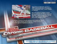 2017 Topps Chrome Baseball Jumbo HTA Hobby Box