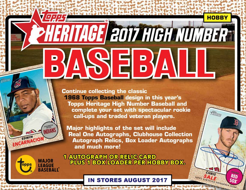 2017 Topps Heritage High Numbers Chrome Pick From List