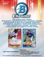 2017 Bowman Chrome Baseball Hobby 12 Box Case