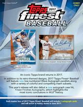 2017 Topps Finest Baseball Hobby 8 Box Case