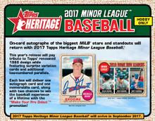 2017 Topps Heritage Minor League Baseball Hobby 12 Box Case