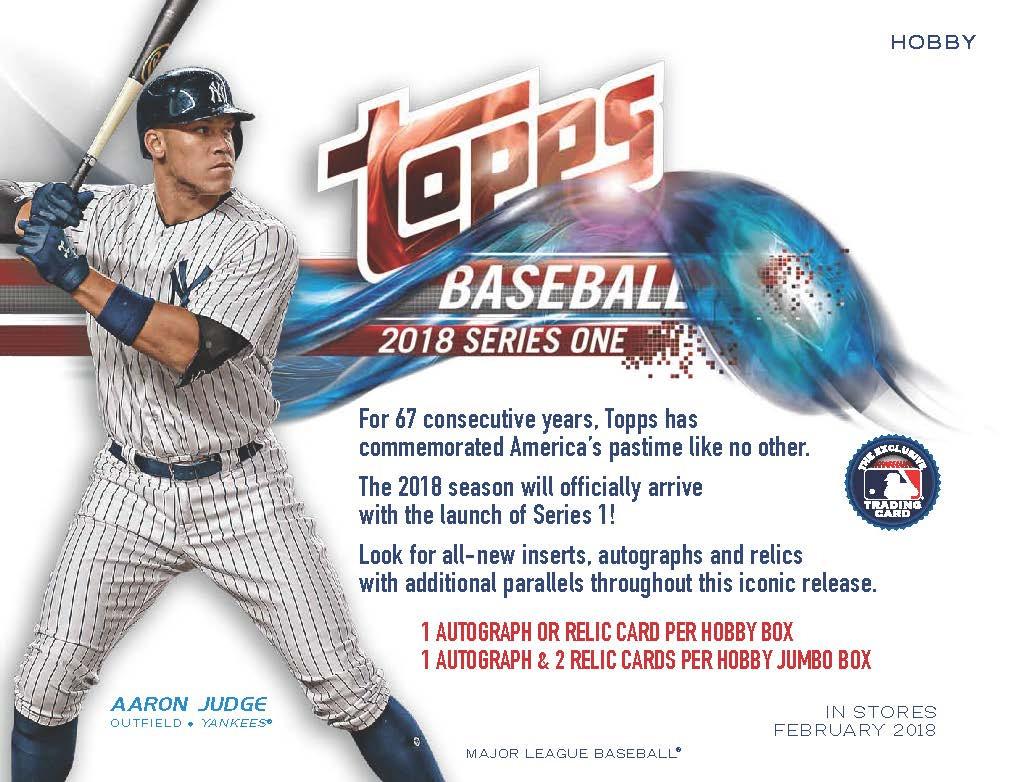 2018 Topps Series 1 Baseball Jumbo 6 Box Case