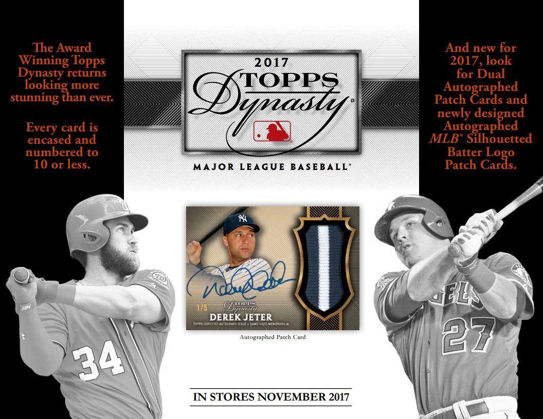 2017 Topps Dynasty Baseball Hobby Box