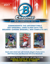 2017 Bowman Chrome Baseball Mini Hobby Factory Set