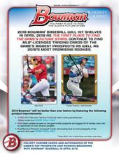 2018 Bowman Baseball Hobby Jumbo 8 Box Case