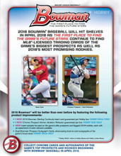 2018 Bowman Baseball Hobby 12 Box Case