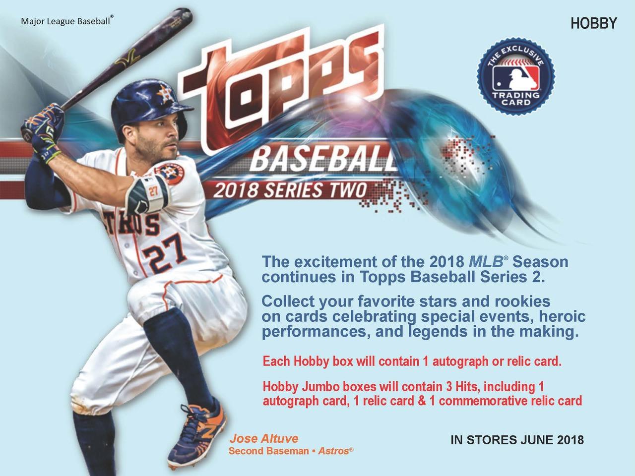 2018 Topps Series 2 Baseball Jumbo 6 Box Case