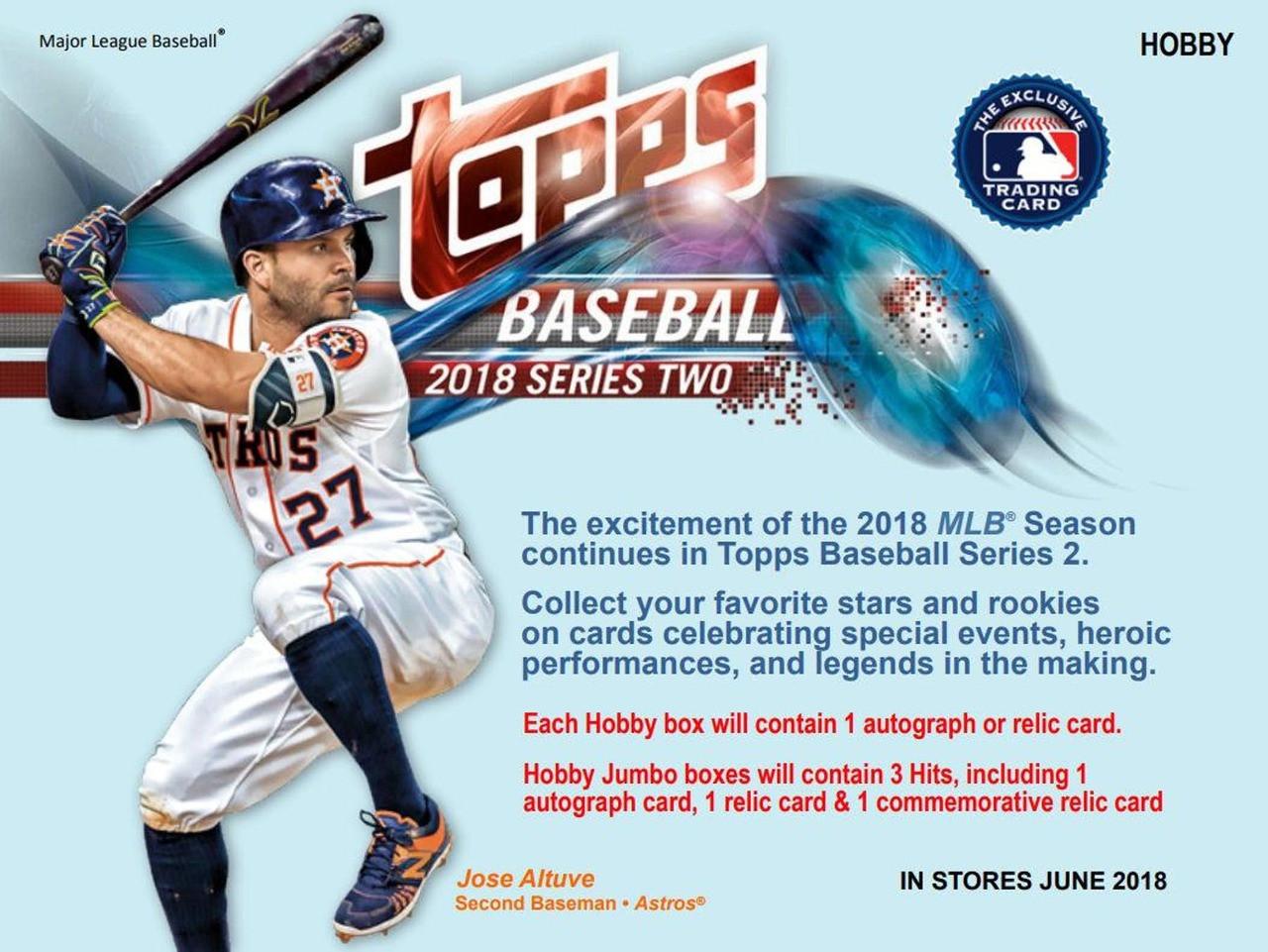 2018 Topps Series 2 Baseball Jumbo Hta Box 2 Silver Packs