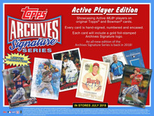2018 Topps Archives Signature Series Active Player Edition Baseball Box