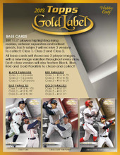 2018 Topps Gold Label Baseball Hobby 16 Box Case