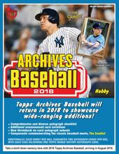 2018 Topps Archives Baseball Hobby 10 Box Case