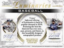 2018 Topps Luminaries Baseball Hobby 12 Box Case