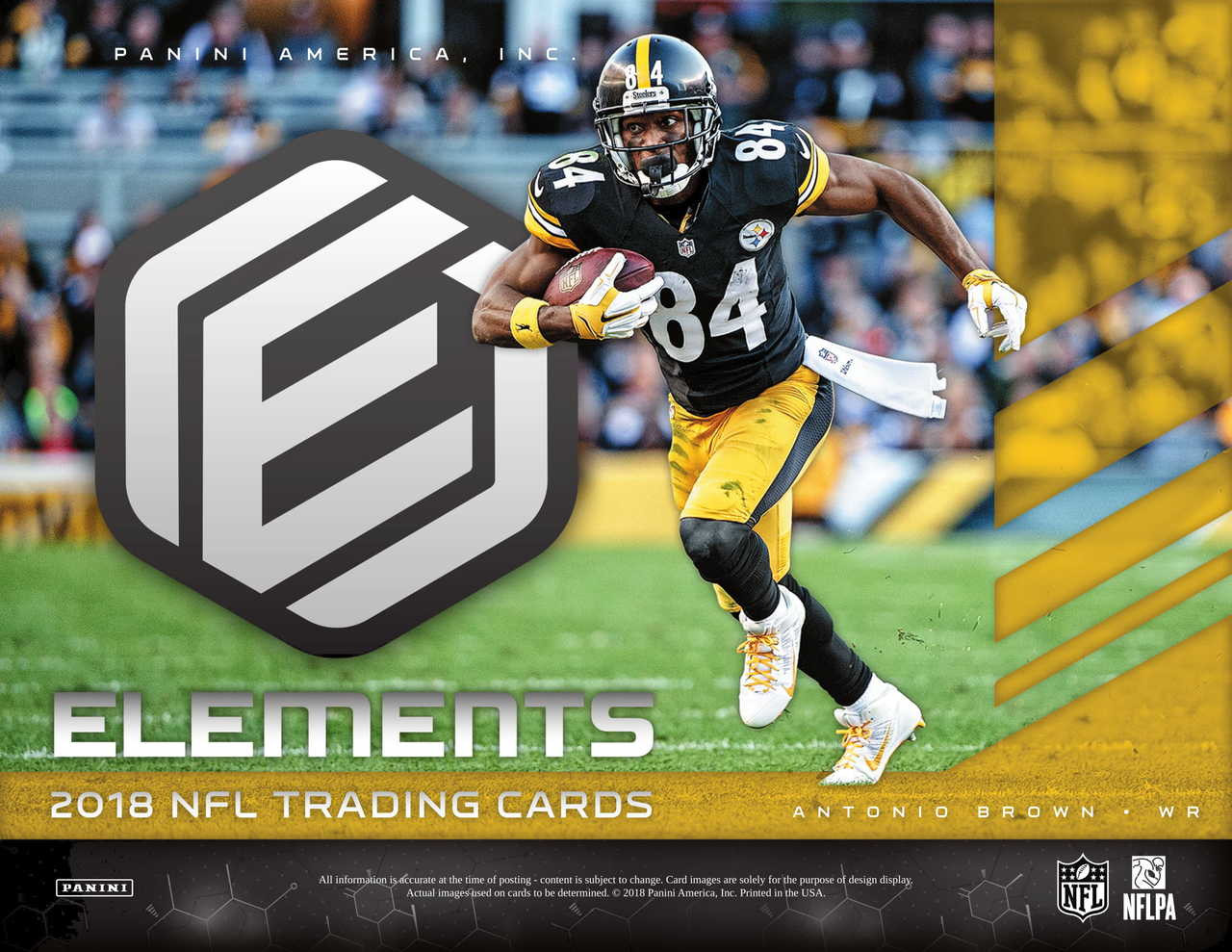 2018 Panini Elements Football Hobby 12 Box Case