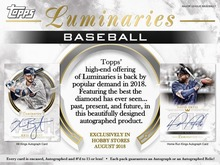 2018 Topps Luminaries Baseball Hobby Box