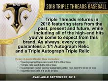 2018 Topps Triple Threads Baseball Hobby 18 Box Case