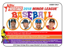 2018 Topps Heritage Minor League Baseball Hobby 12 Box Case