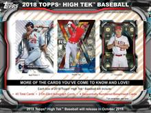 2018 Topps High Tek Baseball Hobby 12 Box Case