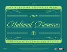 2018 Panini National Treasures College Football Hobby 4 Box Case
