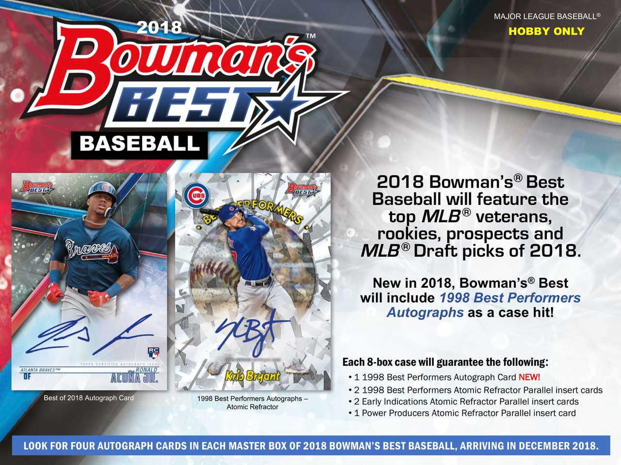 2018 Bowmans Best Baseball Hobby 8 Box Case