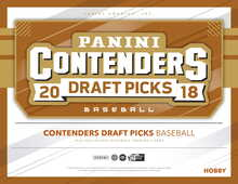 2018 Panini Contenders Draft Picks Baseball Hobby 12 Box Case