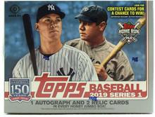 2019 Topps Series 1 Baseball Jumbo 6 Box Case + 12 Silver Packs