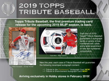 2019 Topps Tribute Baseball Hobby 6 Box Case