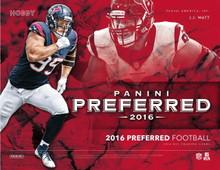 2016 Panini Preferred Football Hobby 10 Box Case