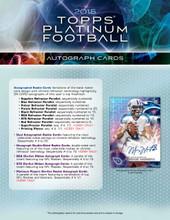 2015 Topps Platinum Football Hobby 12 Box Case