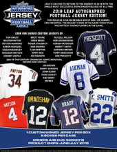 2018 Leaf Autographed Football Jersey Edition 8 Box Case