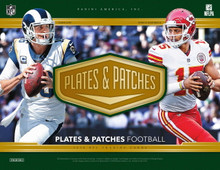 2018 Panini Plates & Patches Football Hobby 12 Box Case