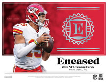 2018 Panini Encased Football Hobby 8 Box Case